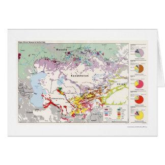 FolkgruppAsien karta 1993 Hälsningskort