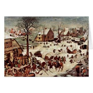 Folkräkning på Bethlehem vid Bruegel D. Ä. Pieter Hälsningskort