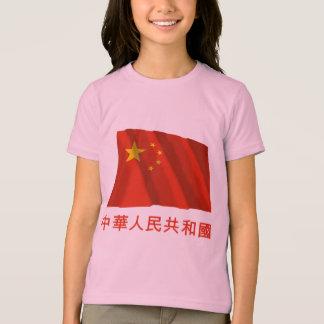 Folks tekniker-china som vinkar flaggaw-namn i t-shirt