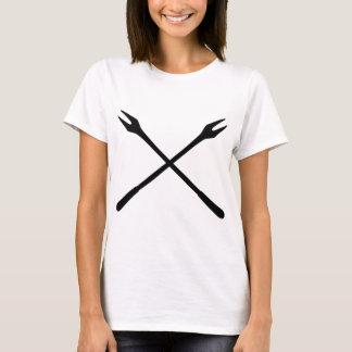 fonduen spottar symbolen t-shirts