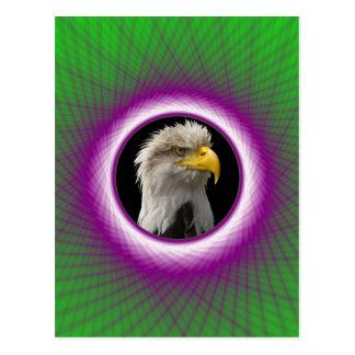 Fönster för grönt för vykort violett vävt och