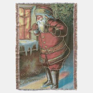 Fönster för jultomtenjulgranprydnad mysfilt