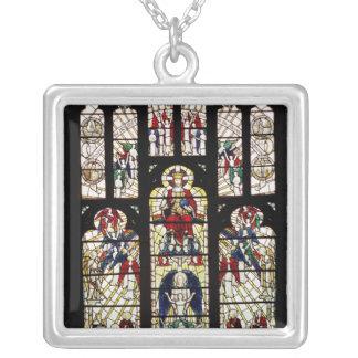 Fönster i den Worcester domkyrkan, 15th århundrade Silverpläterat Halsband