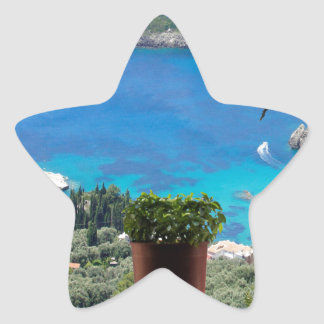 fönster till greece stjärnformat klistermärke