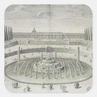 Fontän av Latone på Versailles, 1714, från 'Les Fyrkantigt Klistermärke