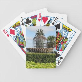 Fontän för Charleston SC-ananas som leker kort Spelkort