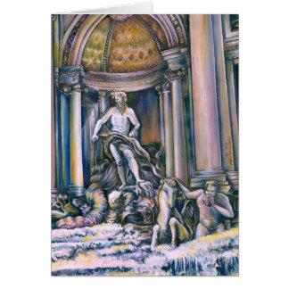 Fontana Di Trevi, Roma, italien Hälsningskort