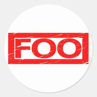 Foo frimärke runt klistermärke