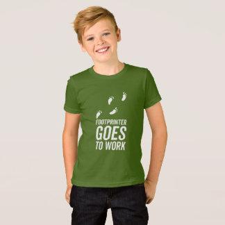 Footprinter går att fungera tee shirts