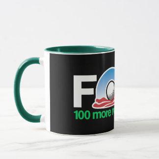 För 100 rundar mer av Obama Golf någon? Mugg