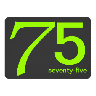 För 75:efödelsedag för kol och för limefrukt 12,7 x 17,8 cm inbjudningskort