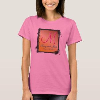 för AA-sleeve för Monogram 3d Citrine T-shirt