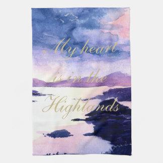 För akvarellTea för skotskt citationstecken Kökshandduk