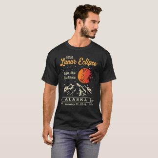 För Alaska för sammanlagd Lunar förmörkelse måne T-shirt