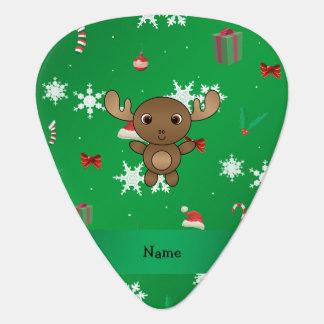 För älggrönt för personlig känt mönster för jul gitarr plektrum