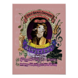 För Alpacabel för Pachelbel parodiparodi Poster