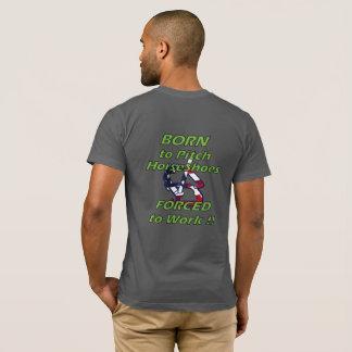 För amerikandräkt för hästskor grundläggande tshirts