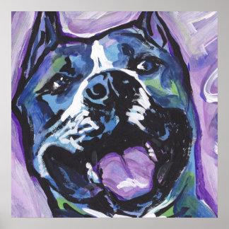 För Amstaff för amerikanStaffordshire Terrier Poster