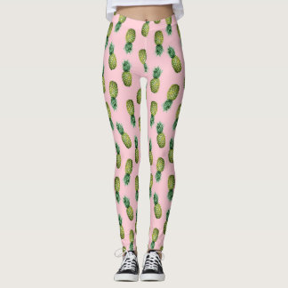 För ananasrosor för sommar tropiska Leggins Leggings