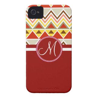 För Andes för Monogram Aztec trianglar stam- berg Case-Mate iPhone 4 Skal