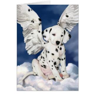 För ängelvalp för kort Dalmatian målning