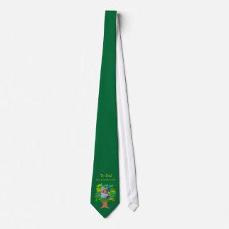 För anpassadefoto för fars dag grön mall för Tie Slips