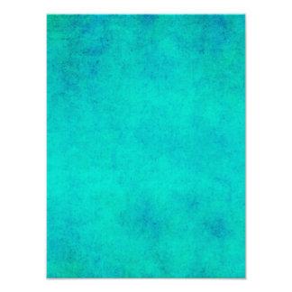 För Aquablått för vintage purpurfärgad Parchment Fototryck