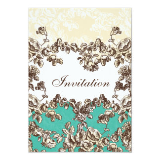 för aquachic för stuga rosa bröllopsinbjudningar inbjudningskort