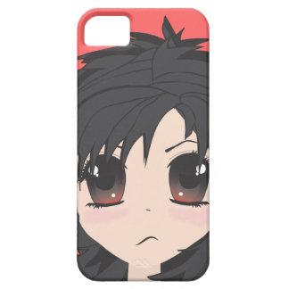 För arg Chibi lite flicka med svart hår iPhone 5 Skydd
