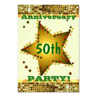 För årsdagparty för roligt 50th inbjudan