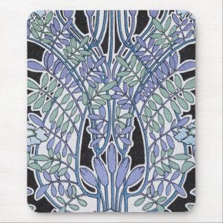 för art nouveauvintage för älskvärd lavendel mus matta