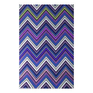 För Aztec blåttgrönt purpurfärgat för sparre mönst Brevpapper