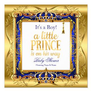För baby showerblått för Prince Pojke utsmyckat Fyrkantigt 13,3 Cm Inbjudningskort