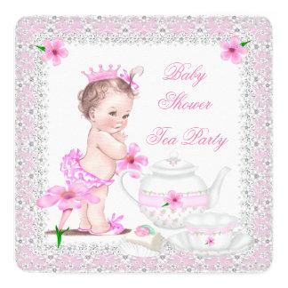 För baby showerflicka för Princess Rosa party för Fyrkantigt 13,3 Cm Inbjudningskort