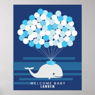 För baby showergäst för val | tryck för bok affisch
