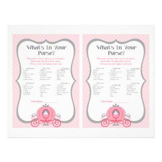 För baby showerhandväska för Princess Vagn Rosa Reklamblad 21,5 X 30 Cm