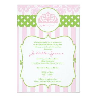 För baby showerinbjudningar för Princess Kröna 12,7 X 17,8 Cm Inbjudningskort