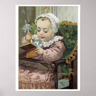 För babykonst för Victorian sött dyrbar affisch fö