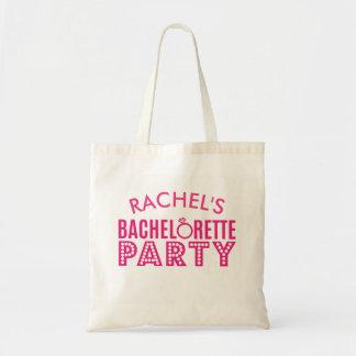 För Bachelorette för brudens sida rosa gåva för Tygkasse