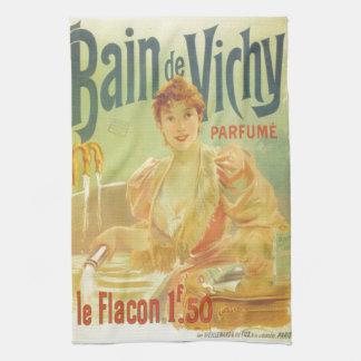 För badkarannonsering för Victorian fransk kvinna Kökshandduk