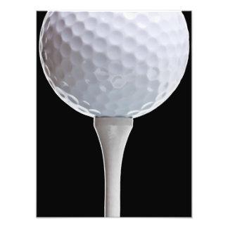 För bakgrundsgolfspel för golfboll svart mall för fototryck