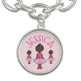 För balettTutu för personlig rosa gåva för dans Berlockarmband