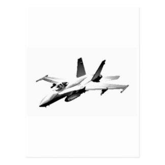 För bålgetingkämpe för vit F/A-18 jet Vykort