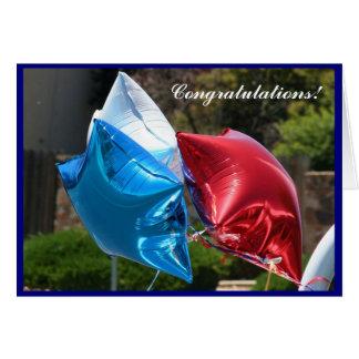 För ballonghälsning för grattis patriotiskt kort