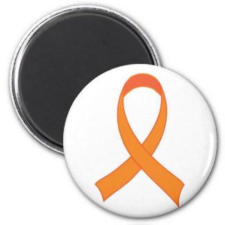 För bandmedvetenhet för personlig orange gåva magnet rund 5.7 cm