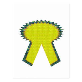 För BANDutmärkelse NVN283 för gnistra gul guld- Vykort