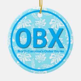 För bankerNC för personlig OBX yttre jul för blått Julgransprydnad Keramik
