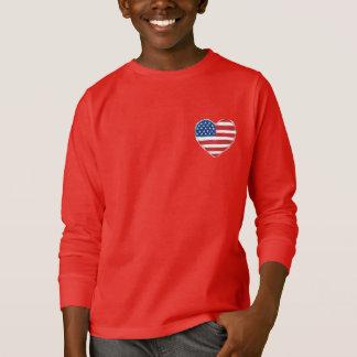 För barn för amerikanhjärtaHoodie T-shirt