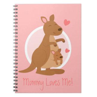 För barn för barn för mor för gullig kängurubaby anteckningsbok med spiral