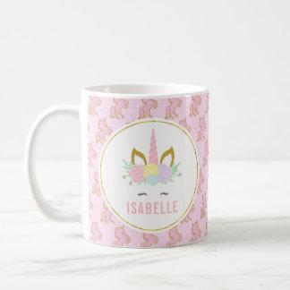 För barn för Customizabele Unicorn hoad Kaffemugg